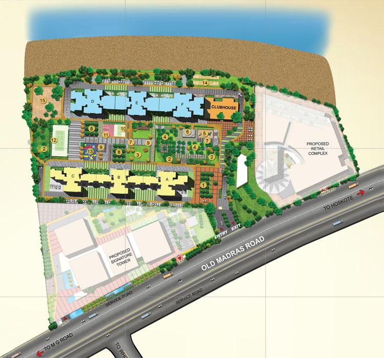 Brigade Golden Triangle Site Plan